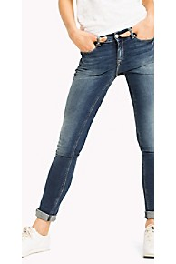 타미 힐피거 우먼 스키니핏 청바지 Tommy Hilfiger Mid Rise Skinny Fit Jean,ROYAL BLUE STRETCH