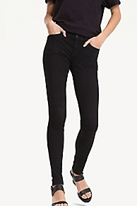 타미 힐피거 우먼 스키니핏 블랙진 Tommy Hilfiger Mid Rise Skinny Fit Jean,BLACK STRETCH