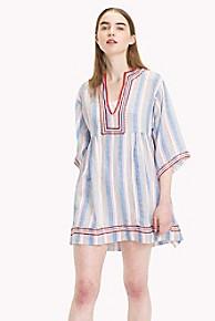 타미 힐피거 Tommy Hilfiger Kaftan Beach Dress,BLUE POPPY RED STRIPE