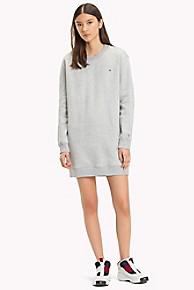 타미 힐피거 Tommy Hilfiger Tommy Classics Sweatshirt Dress,LT GREY HTR