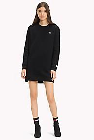 타미 힐피거 Tommy Hilfiger Tommy Classics Sweatshirt Dress,TOMMY BLACK