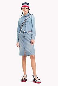타미 힐피거 Tommy Hilfiger Tommy Jeans XPLORE Denim Skirt,DESERT BLUE RIGID