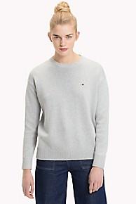 타미 힐피거 Tommy Hilfiger Tommy Classics Crewneck Sweater,LIGHT GREY HEATHER