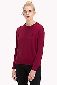 타미 힐피거 Tommy Hilfiger Tommy Classics Crewneck Sweater,RUMBA RED