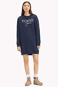 타미 힐피거 Tommy Hilfiger Logo Sweatshirt Dress,BLACK IRIS