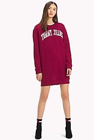 타미 힐피거 Tommy Hilfiger Logo Sweatshirt Dress