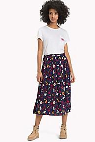 타미 힐피거 Tommy Hilfiger Floral Wrap Skirt,VINTAGE FLORAL PRINT