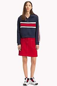 타미 힐피거 Tommy Hilfiger Patch Pocket Skirt,SNAP LYCHEE RIGID