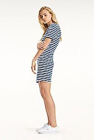 타미 힐피거 Tommy Hilfiger Tommy Classics Bodycon Dress,LIMOGES / CLASSIC WHITE