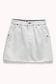 타미 힐피거 Tommy Hilfiger Tommy Jeans Outdoors Denim Skirt,CLOUD DANCER