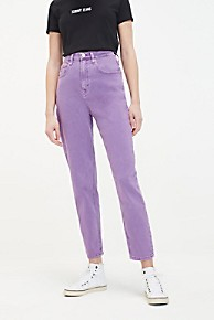 타미 힐피거 Tommy Hilfiger Lavender High Rise Tapered Fit Jean,LAVENDER