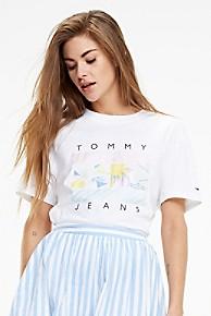 타미 힐피거 서핑 프린트 크롭 반팔티 - 2 컬러 Tommy Hilfiger Surf Flag T-Shirt
