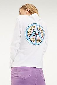 타미 힐피거 Tommy Hilfiger Organic Cotton Pop Art Sweatshirt,CLASSIC WHITE