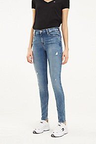 타미 힐피거 Tommy Hilfiger Mid Rise Skinny Fit Jean,MEDIUM BLUE