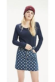 타미 힐피거 우먼 티셔츠 Tommy Hilfiger Soft Jersey Long Sleeve T-Shirt