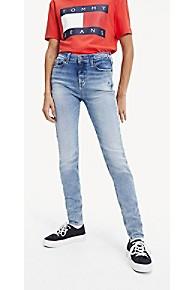 타미 힐피거 Tommy Hilfiger Mid Rise Skinny Fit Jean,LIGHT BLUE FADE