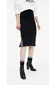 타미 힐피거 Tommy Hilfiger Logo Tape Skirt,TOMMY BLACK