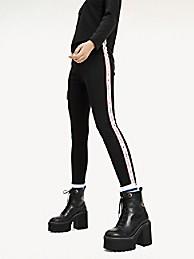 타미 힐피거 Tommy Hilfiger Logo Tape Legging,TOMMY BLACK