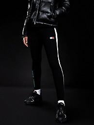 타미 힐피거 Tommy Hilfiger Metallic Block Legging,BLACK