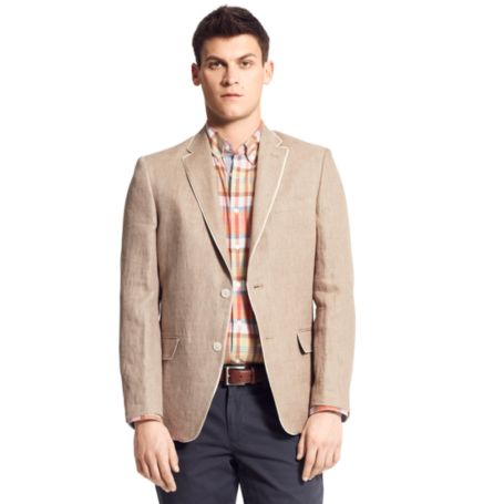 Image for TAN LINEN BLAZER from Tommy Hilfiger USA
