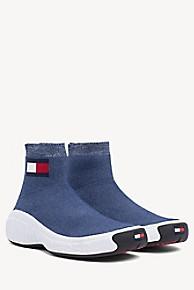 타미 힐피거 타미 진스 니트 스니커즈 Tommy Hilfiger Tommy Jeans Knit Sneaker,DENIM