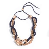 MIXED MEDIA ROPE NECKLACE $69.00