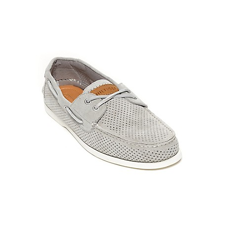 Tommy Hilfiger Perforated Suede Deck Shoes - Blue Tommy Hilfiger Men's Shoe. What We Do Best, The Timeless Deck Shoe Restyled In Perforated Suede. Classic, Comfortable And Completely All-American.· Boat Shoe Silhouette In Suede. · .75 ''Heel.· Rubber Sole, Padded Insole.· Imported.