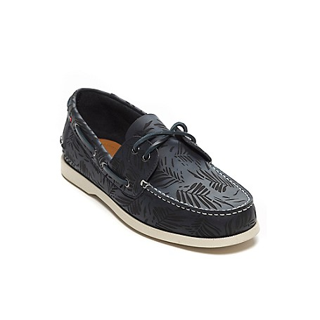 Tommy Hilfiger Palm Print Deck Shoes - Navy Tommy Hilfiger Men's Shoe. What We Do Best, The Timeless Deck Shoe Restyled In Palm-Printed Leather. Classic, Comfortable And Completely All-American.· Boat Shoe Silhouette In Leather. · .75'' Heel.· Rubber Sole, Padded Insole.· Imported.