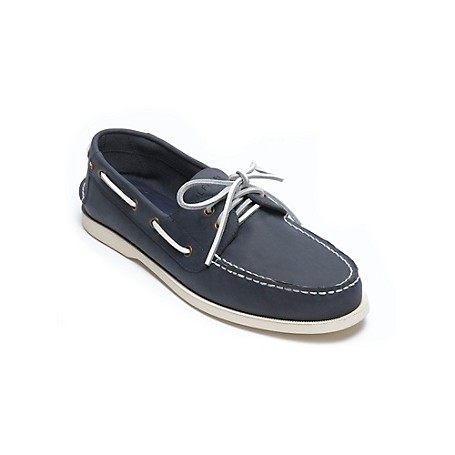 Tommy Hilfiger Deck Shoes - Navy - 8 Tommy Hilfiger Men's Shoe. Just Like The Deck Shoes You Loved Growing Up As A Kid With The Same Amazing Comfort And Siped-Sole Grip-Kicked Up A Notch In Color.· Deck Shoe Silhouette In Suede.· Padded Insole, Microflag On Side, Rubber Sole.· 0.75'' Heel.· Imported.