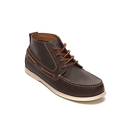Tommy Hilfiger Final Sale- Boat Shoes Boot - Cognac Tommy Hilfiger Men's Shoe. Complete With All The Classic Details, Our Boat Shoe Looks Just Like The Ones You Wore As A Kid-But Now Revamped Into A Boot Silhouette. • Boat Shoe Boot Silhouette In Leather.• Cushioned Insole, Rubber Outsole, Lace-Up Vamp.• 1'' Heel.• Imported.