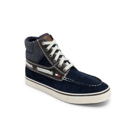 Image for HIGH TOP LEATHER BOAT BOOT from Tommy Hilfiger USA