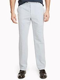 타미 힐피거 바지  Tommy Hilfiger Regular Fit Essential Seersucker Pant,BLUE/WHITE SEERSUCKER