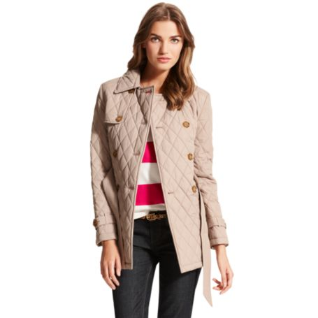 Image for QUILTED JACKET WITH TIE from Tommy Hilfiger USA