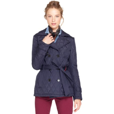 Image for QUILTED PEACOAT from Tommy Hilfiger USA