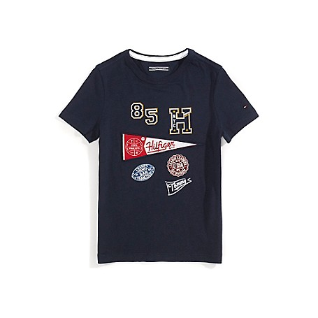 Tommy Hilfiger Th Kids Sports Tee - Navy Blazer - 8 Tommy Hilfiger Boys' Tee.100% Cotton.Machine Washable.Imported.