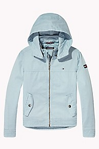 타미 힐피거 보이즈 후드 자켓 Tommy Hilfiger TH Kids Cotton Twill Hoodie,STRATOSPHERE