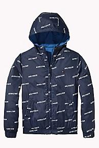 타미 힐피거 보이즈 양면 후드 자켓 Tommy Hilfiger TH Kids Reversible Hooded Jacket,BLACK IRIS