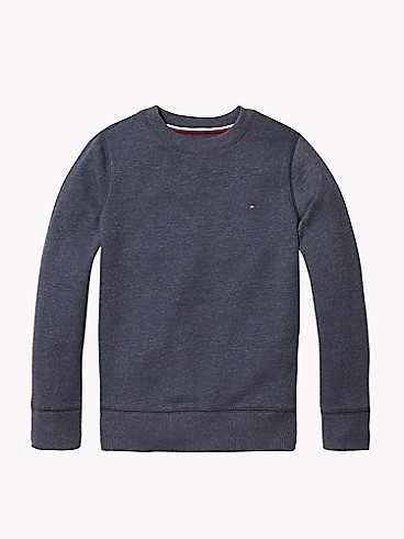 타미 힐피거 Tommy Hilfiger TH Kids Solid Sweatshirt,SKY CAPTAIN