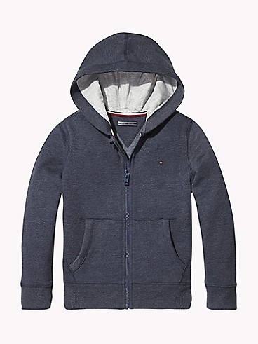 타미 힐피거 Tommy Hilfiger TH Kids Solid Zip Hoodie