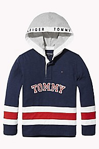 타미 힐피거 보이즈 럭비 후드티 Tommy Hilfiger TH Kids Hooded Signature Rugby