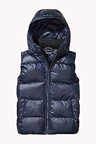 타미 힐피거 보이즈 푸퍼 조끼Tommy Hilfiger TH Kids Flag Puffer Vest,BLACK IRIS