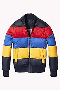 타미 힐피거 보이즈 양면 푸퍼 패딩Tommy Hilfiger TH Kids Reversible Puffer Jacket,BLACK IRIS