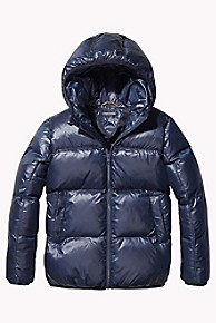 타미 힐피거 보이즈 푸퍼 패딩 Tommy Hilfiger TH Kids Flag Puffer Jacket,BLACK IRIS
