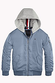 타미 힐피거 보이즈 후드 붐버 자켓 Tommy Hilfiger TH Kids Convertible Hood Bomber Jacket,CORONET BLUE