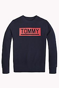 타미 힐피거 보이즈 스웻셔츠 Tommy Hilfiger TH Kids Tommy Sweatshirt,BLACK IRIS