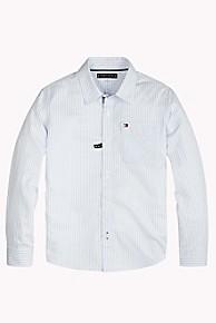 타미 힐피거 보이즈 스트라이프 셔츠 Tommy Hilfiger TH Kids Stripe Shirt,SHIRT BLUE