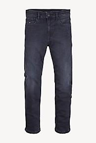 타미 힐피거 청바지 Tommy Hilfiger TH Kids Tapered Fit Stretch Jean,BLUE BLACK DESTRUCTED