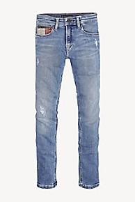 타미 힐피거 청바지 Tommy Hilfiger TH Kids Slim Tapered Fit Jean,AUTHENTIC MID BLUE