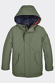 타미 힐피거 키즈 후드 리버서블 코트 Tommy Hilfiger TH Kids Hooded Reversible Coat,THYME