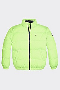 타미 힐피거 키즈 패딩 자켓 Tommy Hilfiger TH Kids Down Puffer Jacket,GREEN GECKO